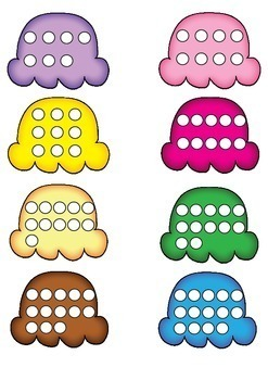 Number Match Cards 1-20 {Number Puzzle} - Ice Creams
