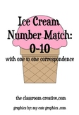 FREE Ice Cream Number Match File Folder Game