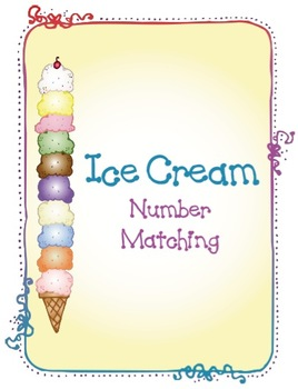 Ice Cream Number Matching Game 1-10