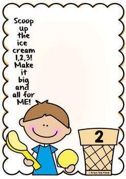 Ice Cream Number Play Doh Mats {Fine Motor Activities}