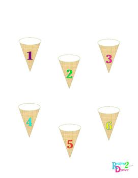 Ice Cream Number Sprinkle