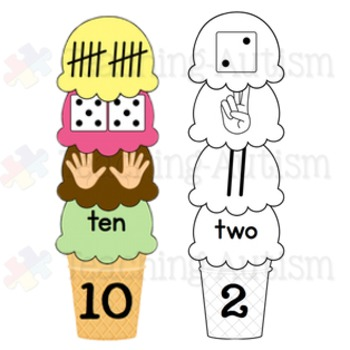 Ice Cream Number Stacking