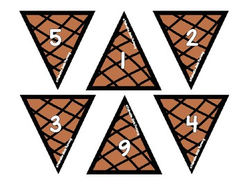 Ice Cream Number To Sets Matching Center Activity