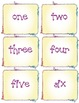 Ice Cream Number Word Matching Game 1-10