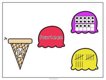 Ice Cream Numbers 1-20