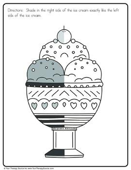 Ice Cream Packet - Fine Motor, Gross Motor, Visual Perceptual and Handwriting
