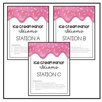 Ice Cream Parlor Figurative Language - An Idiom Activity