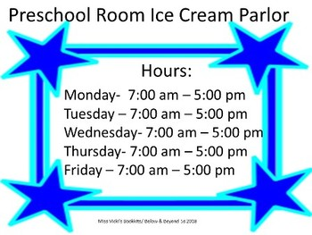 Ice Cream Parlor -Sensory Table & Dramatic Play