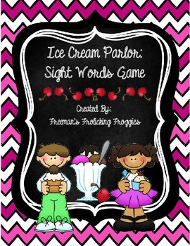 Ice Cream Parlor-Sight Words