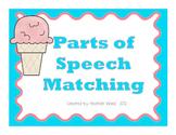 Ice Cream Parts of Speech Matching