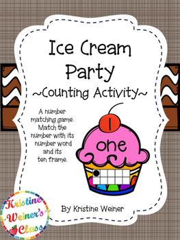Ice Cream Party {A Counting Game}