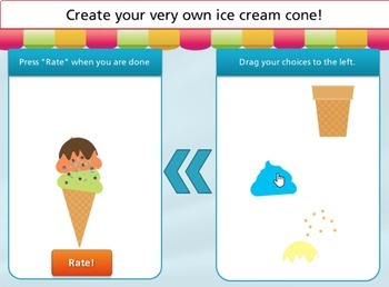 Ice Cream Party - Multiply by 7's - free app for your classroom computer