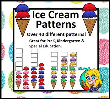 Preschool Ice Cream Patterns
