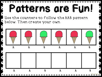 Ice Cream Patterns for Math Centers