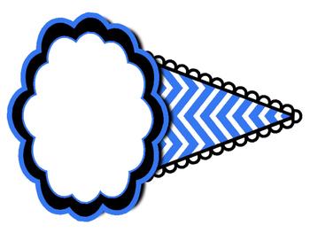 Ice Cream Pennant Banner - EDITABLE