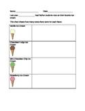 Ice Cream Pictograph Activity