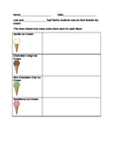 Ice Cream Pictograph Activity