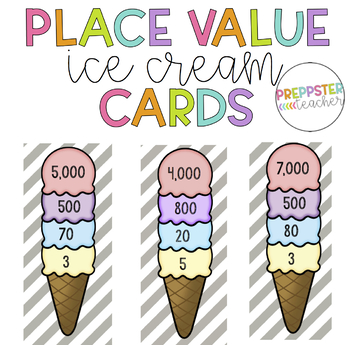 Ice Cream Place Value Activity