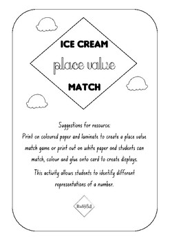 Ice Cream Place Value Match