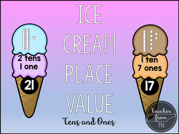 Ice Cream Place Value Tens and Ones