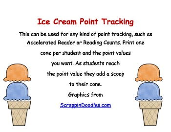 Ice Cream Point Tracking