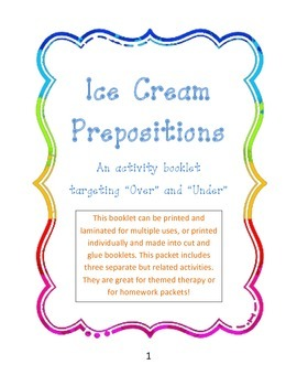 Ice Cream Prepositions: Over and Under