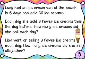 Ice Cream Problem Solving for Year 3 & 4 AUSTRALIAN VERSION