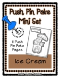 Ice Cream - Push Pin Poke No Prep Printables - 6 Pictures