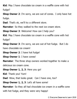 Ice Cream Reader's Theater