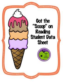 Ice Cream Reading Data Sheet