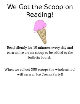 Ice Cream Reading Incentive