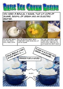 Ice Cream Recipe Comic