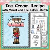 Ice Cream Recipe with Visual and File Folder Match