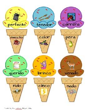 Ice Cream Rhyming Fun - Helados de rimas (Spanish)