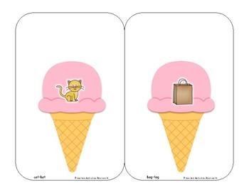 Ice Cream Rhyming Matchups
