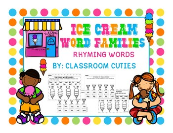 Ice Cream Rhyming Word Families