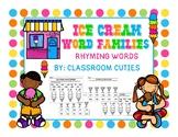 Ice Cream Rhyming Word Families