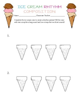 Ice Cream Rhythm Composition Freebie!
