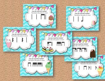 Ice Cream Rhythm Treats! 7 Interactive Rhythm Games BUNDLE! (Kodaly)