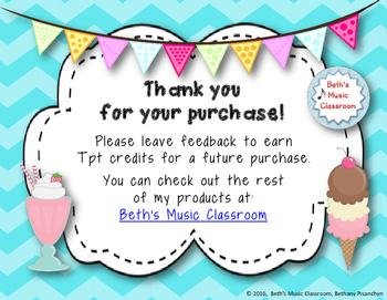 Ice Cream Rhythm Treats! Interactive Rhythm Game 3 ITEM BUNDLE! (Kodaly Review)