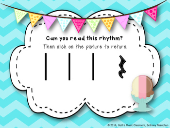 Ice Cream Rhythm Treats! Interactive Rhythm Game - Ta Rest (Kodaly Review)