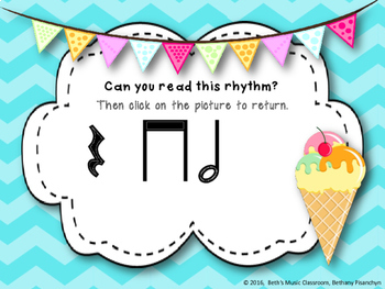 Ice Cream Rhythm Treats! Interactive Rhythm Game - Ta-a/Half (Kodaly Review)