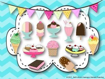 Ice Cream Rhythm Treats! Interactive Rhythm Game - Ti-tika (Kodaly)