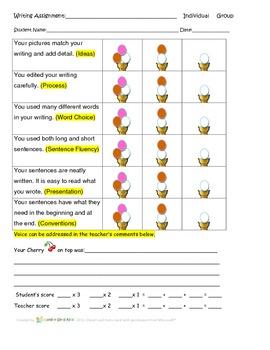 Ice Cream Rubric - Writing Traits