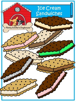 Ice Cream Sandwiches *Penny & Ellie's Doghouse Clipart*