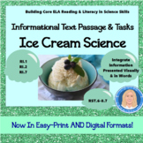 Ice Cream Science: Informational Text Passage & Tasks (Integrate Visuals RI.7)