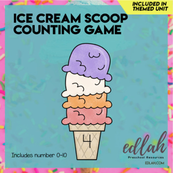 Ice Cream Scoop Counting-Summer Fun