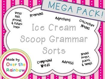 Grammar MEGA Pack NounsVerbsAdjectivesAdverbsPronounCollec