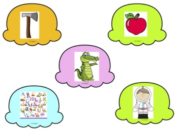 Ice Cream Scoop Letter Sounds Game