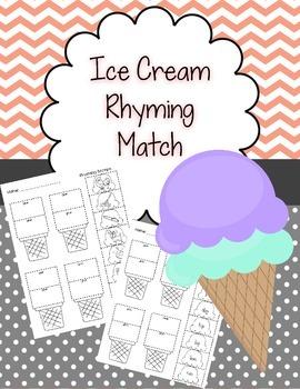 Ice Cream Scoop Rhyming Words